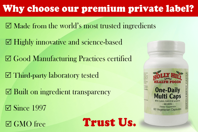 Holly Hill Vitamins Private Label