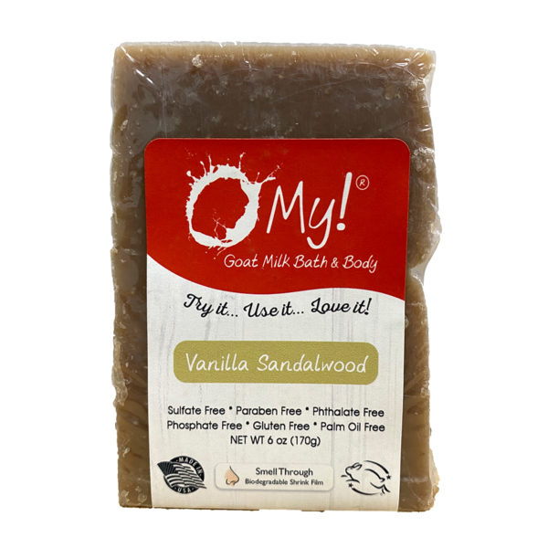 O My! Goat Soap Bar, Vanilla Sandalwood, 6 Ounces