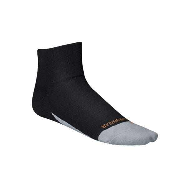Incrediwear Quarter Sport Sock Black/Orange, X-Large, 1 Pair