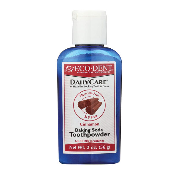 Ecodent DailyCare Baking Soda Toothpowder, Cinnamon, 2 Ounces